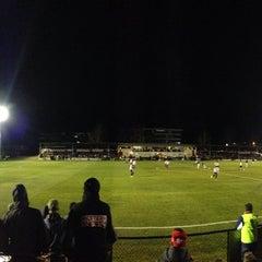Photo taken at Deakin Soccer Field by Megan B. on 7/30/2014
