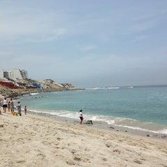 Photo taken at Playa Señoritas by Luciana J. on 3/2/2013