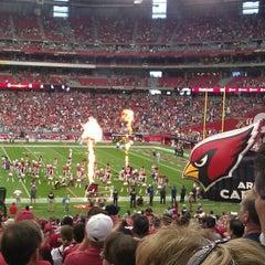 Photo taken at University of Phoenix Stadium by Vanessa G. on 9/30/2012
