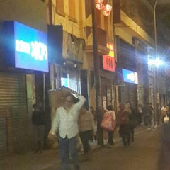 Photo taken at Calle Capón (Barrio Chino) by Andrés A. on 11/18/2015