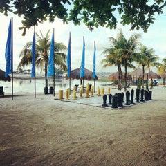 Photo taken at Bluewater Maribago Beach Resort by Joanah U. on 10/30/2012