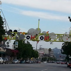 Photo taken at NoHo Sign by Jon S. on 7/3/2013