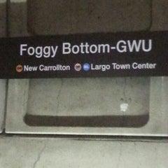 Photo taken at Foggy Bottom-GWU Metro Station by J V. on 6/2/2013