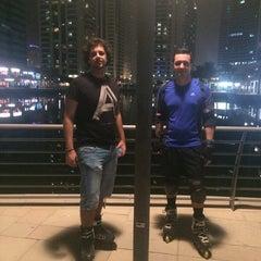 Photo taken at The walk @  Jumairah Lake towers by Boss M. on 8/28/2014