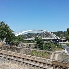 Photo taken at Železniční stanice Praha-Holešovice by Martin K. on 7/21/2013