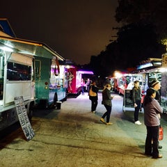 Photo taken at Santa Monica Food Truck Lot by Carlos R. on 1/21/2015