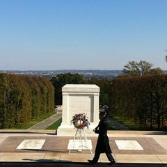 Photo taken at Tomb of the Unknowns by Louise B. on 11/5/2012