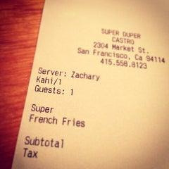 Photo taken at Super Duper Burger by Khai on 10/10/2012