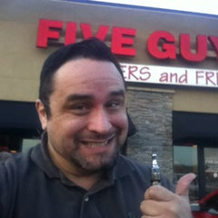 Photo taken at Five Guys by Wesley S. on 6/18/2014