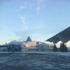 Photo taken at Международный аэропорт Ханты-Мансийск / Khanty-Mansiysk International Airport (HMA) by Maria T. on 11/27/2012