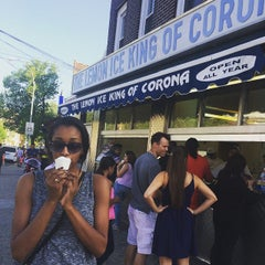Photo taken at The Lemon Ice King of Corona by Leila N. on 5/10/2015