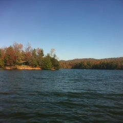 Photo taken at Lake Julian by Allison M. on 10/20/2012