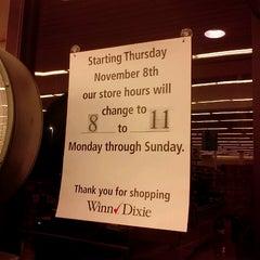 Photo taken at Winn-Dixie by Amanda T. on 11/5/2012
