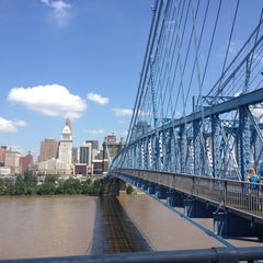 Photo taken at John A. Roebling Suspension Bridge by Meghan on 7/13/2013