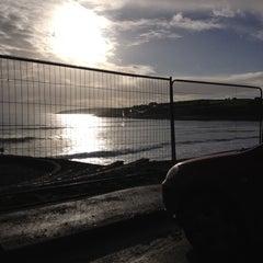 Photo taken at Inchydoney Beach by Nick F. on 12/25/2012