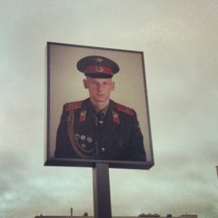 Photo taken at Checkpoint Charlie by Frans  H. on 1/19/2013