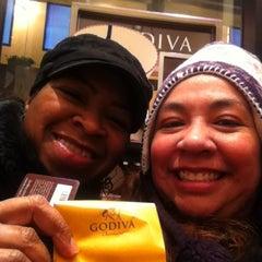 Photo taken at Godiva Chocolatier by Allie P. on 2/1/2013