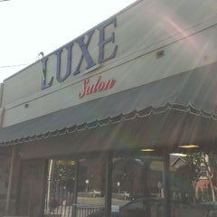 Photo taken at Luxe Salon by Justin M. on 7/13/2013