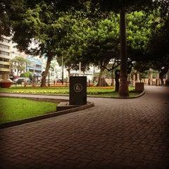 Photo taken at Parque Kennedy by Alexei T. on 12/31/2012
