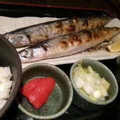 Photo taken at 焼魚食堂 魚角 学芸大学店 by Shigeki S. on 1/12/2014