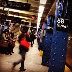 Photo taken at MTA Subway - 59th St/Columbus Circle (A/B/C/D/1) by mido on 12/20/2012