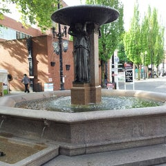 Photo taken at Skidmore Fountain by Ryan P. on 5/25/2013