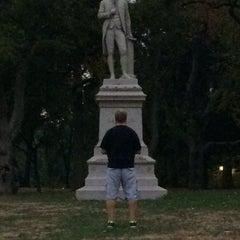 Photo taken at Alexander Hamilton Statue by Matthew C. on 10/16/2013