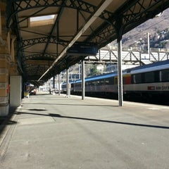 Photo taken at Bellinzona FFS by Gianluca M. on 12/30/2012