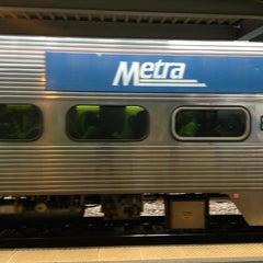 Photo taken at Metra - Evanston (Davis Street) by Joe K. on 8/22/2013
