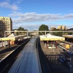 Photo taken at Homebush Station by Jooi O. on 7/8/2015