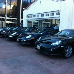 Photo taken at Beverly Hills Porsche Showroom by Tedd S. on 10/23/2012