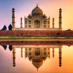 Photo taken at Taj Mahal | ताज महल | تاج محل by djcroft™ ®. on 10/1/2012