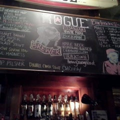 Photo taken at Rogue Ales Public House & Distillery by Victoria C. on 12/9/2012