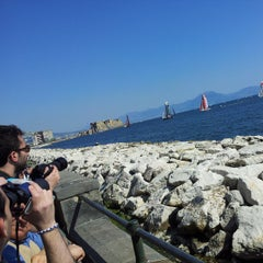 Photo taken at Lungomare di Napoli by Alessio V. on 4/18/2013