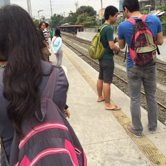 Photo taken at PNR (PUP/Sta. Mesa Station) by Neil Maurice A. on 1/30/2014