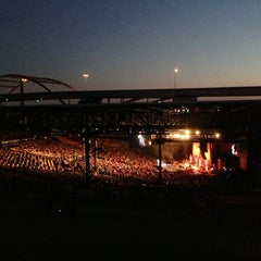 Photo taken at Marcus Amphitheater by Pamela on 8/30/2013