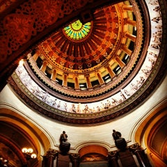 Photo taken at Illinois State Capitol by Backyard Tourist on 4/11/2013