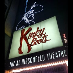Photo taken at Kinky Boots at the Al Hirschfeld Theatre by Stevie V. on 7/4/2013