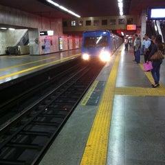 Photo taken at MetrôRio - Estação Carioca by Murillo N. on 8/20/2012