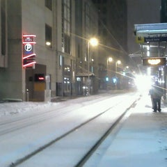 Photo taken at Nicollet Mall LRT Station by Juanita R. on 12/10/2012