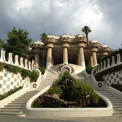 Photo taken at Park Güell by tom n. on 6/16/2013
