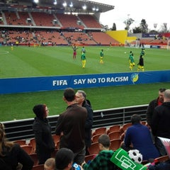 Photo taken at Waikato Stadium by John S. on 6/6/2015