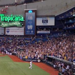 Photo taken at Tropicana Field by Toby S. on 9/21/2013