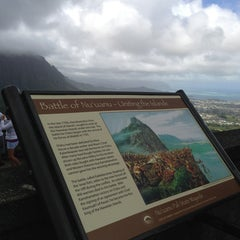 Photo taken at Nuʻuanu Pali Lookout by Christine on 2/24/2013