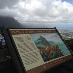Photo taken at Nuʻuanu Pali Lookout by Christine on 2/24/2013