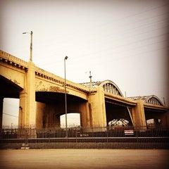 Photo taken at Sixth Street Bridge by Vivy L. on 1/25/2014