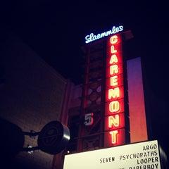 Photo taken at Laemmle Claremont 5 by Gaile D. on 10/19/2012