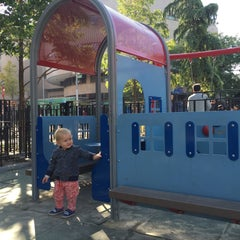 Photo taken at Hester Street Playground by Polina K. on 10/21/2015