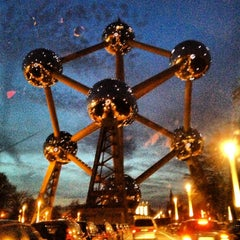 Photo taken at Atomium by Barry S. on 4/17/2013