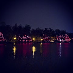 Photo taken at Boathouse Row by Brandon G. on 4/7/2013